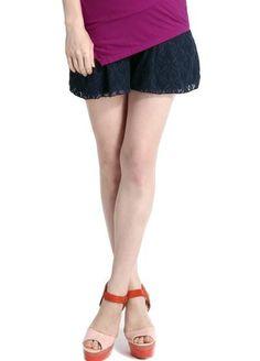 Glamorous Lace Maternity Shorts