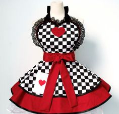 Queen of Hearts Costume Apron on Etsy, Sold
