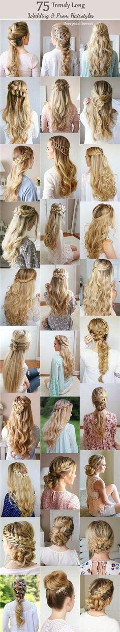 Long Wedding & Prom Hairstyles from Missysueblog / http://www.deerpearlflowers.com/wedding-prom-hairstyles-for-long-hair/ #longhairstyles