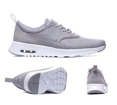 Nike Womens Air Max Thea Premium Trainers Stealth Grey White S92402