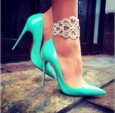 Fashion Women Pointed Heels Leather Wedding Shoes