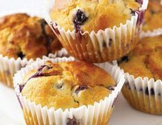 Variation Use raspberries in place of blueberries, or orange zest instead of the lemon. Cook's Notes The muffins are best eaten warm, soon after making, or on the day they're made. Muffin Recipes, Cake Recipes, Dessert Recipes, Desserts, New Cooking, Cooking Recipes, American Fast Food, Fancy Cupcakes, New Cake