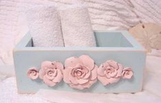 So Shabby Pink Wash Cloth Holder Large