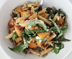 Penne with Roasted Butternut Squash & Goat Cheese - Tipps in the Kitch