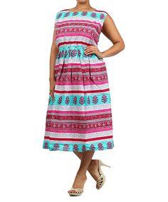 Another great find on  zulily! Pink  amp  Aqua Floral Empire-Waist Dress b46a669b44