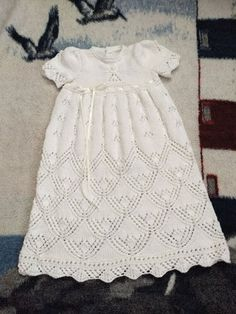 Angelic Grace Christening Gown Knit Pattern is a top seller! Order and start stitching today. Knitting Kits, Knitting For Kids, Baby Knitting Patterns, Baby Patterns, Lace Knitting, Knit Baby Dress, Crochet Supplies, Gown Pattern, Baby Girl Crochet