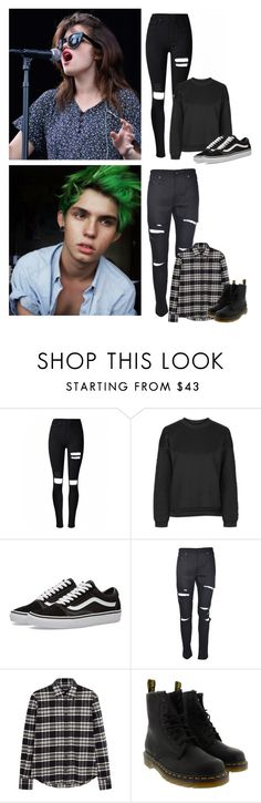 """Cuddfan's Tavern"" by the-infinite-anons ❤ liked on Polyvore featuring Topshop, Vans, Yves Saint Laurent, Dsquared2 and Dr. Martens"