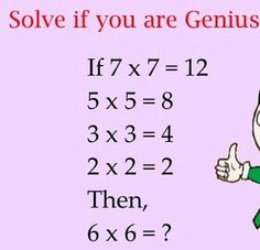Logic Math Puzzles Only For Genius With Answer Http