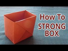 How to make a strong box from paper. Easy DIY Do it Yourself Origami video tutorial. Its very easy funny and creative for kids as well as paper origami, pape. Diy Origami, Origami Gift Bag, Gato Origami, Paper Crafts Origami, Useful Origami, Origami Design, Simple Origami, Oragami, Paper Box Tutorial