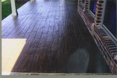 Gathering ideas for the back porch.  I LOVE this- stamped concrete