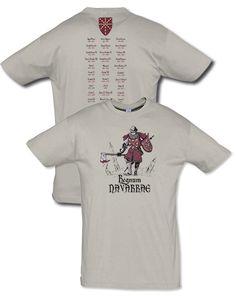 Camiseta serie caballeros: Regnum Navarrae. Diseñada por Escobar.