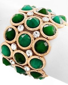 Stunning emerald and gold bracelet via mylusciouslife.jpg