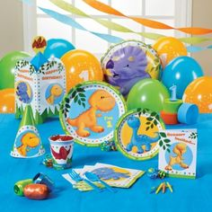 Little Dino Birthday Party Packs Dinosaur First Birthday, Boy First Birthday, First Birthday Parties, First Birthdays, Dinosaur Party, Kid Parties, 1st Birthday Party Supplies, 1st Birthday Themes, Birthday Fun