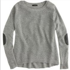 Jcrew elbow patch gray sweater Jcrew elbow patch gray sweater - in excellent condition! J. Crew Sweaters Crew & Scoop Necks