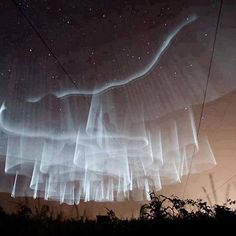 What an amazing display of white Northern Lights or white aurora curtain. Seen somewhere over Finland, however this is NOT a natural aurora but human made. All Nature, Science And Nature, Amazing Nature, Beautiful Sky, Beautiful World, Beautiful Pictures, Stunningly Beautiful, Beautiful Lights, Natural Phenomena