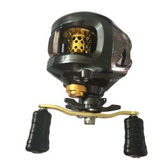 12 + 1 bbギア比6.3: 1右/左手baitcastingリール釣りフライ高速釣りリールで磁気ブレーキシステムBHU2