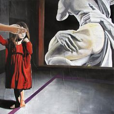 GaeTano and Valentina, MISUNDERSTANDING (SEVEN CHANGE YOU), © 2013, acrylic on canvas, 100 x 100 cm  #pittura #art #painting #arts #GaeTanoAndValentina #AcrylicOnCanvas #scenographTwoArt #SCENOGRAPH2ART #GaeTanoeValentina #visualart #canvas #sem #acrylic #peinture #ceruleo #dipinti #monza #italy