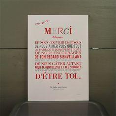 """Affiche personnalisée """"merci maman"""""""