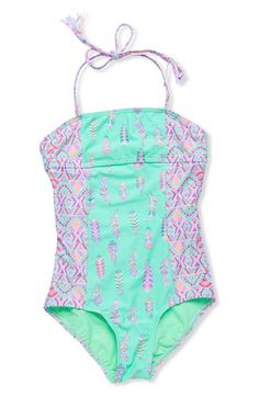Gossip+Girl+'Bohemian'+One-Piece+Swimsuit+(Big+Girls)+available+at+#Nordstrom