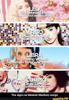 Melanie Martinez songs // Zodiacs - Google Search