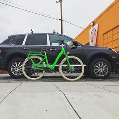 Instagram picutre by @motostrano: The Cube Elly with #Cayenne backdrop #porsche #ebike - Shop E-Bikes at ElectricBikeCity.com (Use coupon PINTEREST for 10% off!)