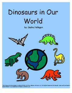 Adapted Dinosaur Book! Great for Children with Autism {simple 8 page book that comes with a matching picture for each page; great way to involve children in a literacy activity and get them involved in reading in a motivating way!}