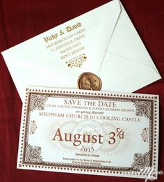 Harry Potter DIY party/wedding invitation/Save the date