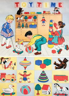 The toys I played with...the clothes I wore.  These are the illlustrations of the books I read in the early 1960s.  Really early.