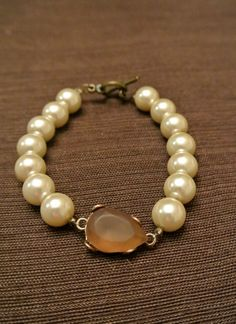 Gemstone and Pearl Bracelet