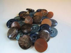 Vintage buttons. Cottage chic mix of assorted blue by JessEBees, $5.95