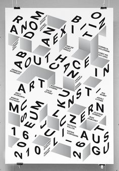 Typographic poster. The interesting part being how its using the imaginary cubic surfaces.