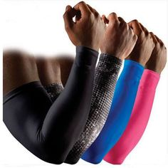 c250513556 Hot Sell Running Men Sports Basketball Arm Sleeve Cycling Compression Arm  Warmers Mcdavid Elbow Protector Pads