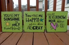You are My Sunshine lyrics on canvas by jdwhaley on Etsy, $94.00