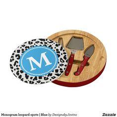 Monogram leopard spots | Blue Cheese Board