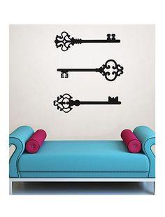 Unlock your sorority passion with this Kappa Kappa Gamma key wall decal!