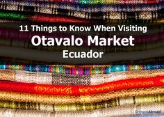 In this post, you'll take an Otavalo tour that'll show you the highlights and everything you need to know as you plan your actual trip to the Otavalo Market.