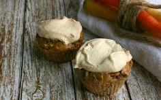Gluten-Free Carrot Cake Muffins with Cream Cheese Frosting Recipe on Yummly