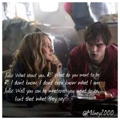 Isn't that what they say? ~ Warm Bodies Quotes Movie Titles, Movie Quotes, Movie Tv, Warm Bodies, Body Quotes, Nicholas Hoult, Percabeth, Zombie Apocalypse, Tv Shows