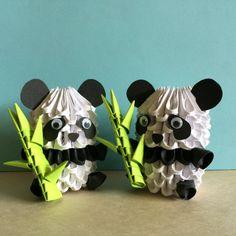 Adorable 3D Origami Panda with Bamboo Shoot