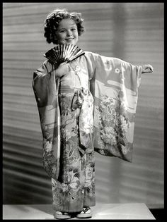 SHIRLEY TEMPLE by Okinawa Soba, via Flickr.  Photo is a ca.1935 gelatin silver print. And yeah, I know she has her little Obi tied in front.