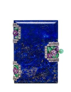 Rosamaria G Frangini | Modern Jewellery | A French Lapis, Jade, Amethyst and Diamond Compact, Van Cleef & Arpels, Par