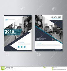 Vector Magazine Annual Report Leaflet Brochure Flyer Template ...