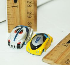 "2 PC LOT MICRO CHARGERS RACING MINIATURE MINI 1"" CARS STUNT VEHICLES USED #MicroChargers"