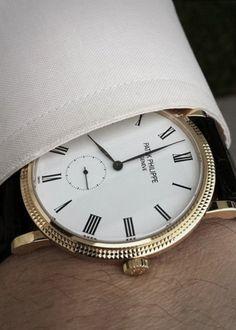 Calatrava watch - Patek Philippe   @Olga Aguilar