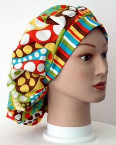 Circles & Stripes 1 Bouffant Surgical Scrub Hat by duehringphotocc, $5.00