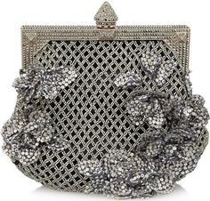 Valentino beaded satin clutch - also available in pink.