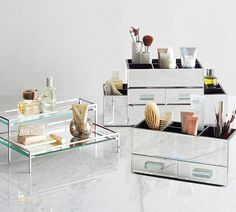 Mirrored Makeup Storage