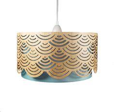 Handgemaakte lamp gemaakt van echt hout / van FliegenNadine op Etsy