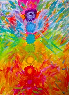 Full Force Vitality - an Aura and Chakras painting by Kala Ambrose author of The Awakened Aura