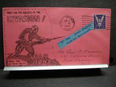 PATRIOTIC WWII Postal History Cover 1944 WAR BONDS Cachet DES MOINES, IOWA